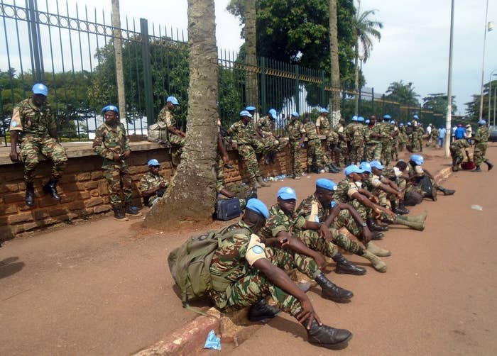 UN peacekeeping troops in Bangui, Central African Republic.