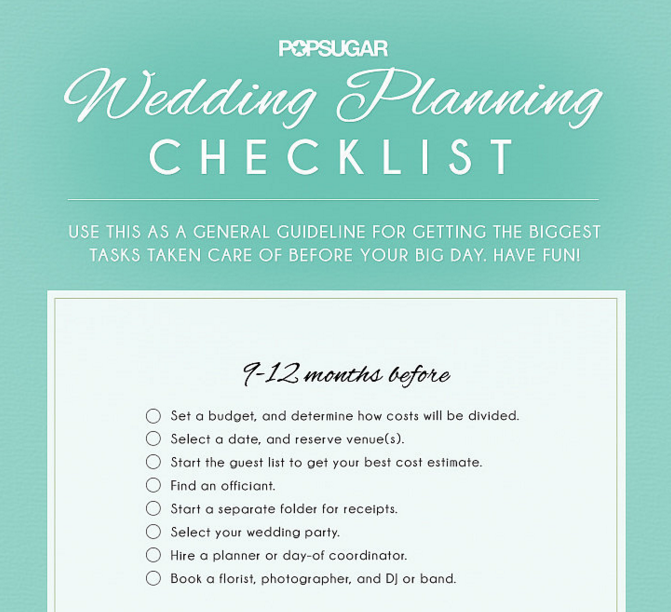 See the full checklist at PopSugar.