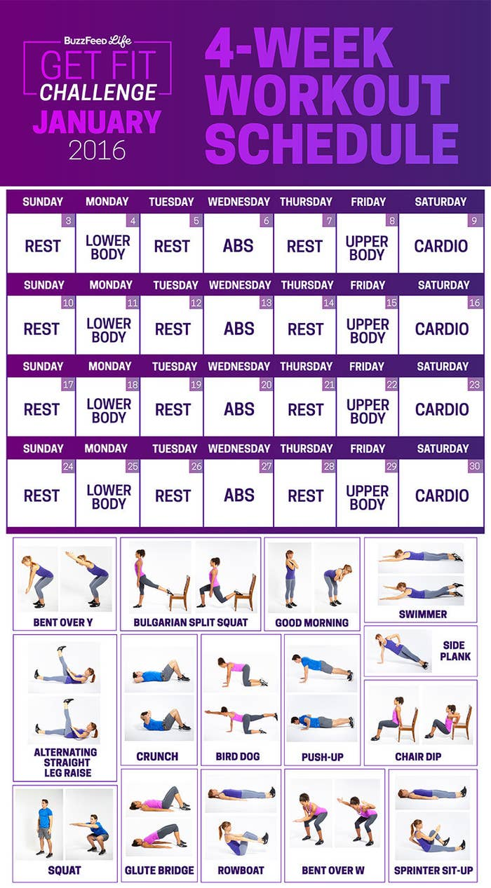 This 28 Day Challenge Will Get You To Actually Start Working Out