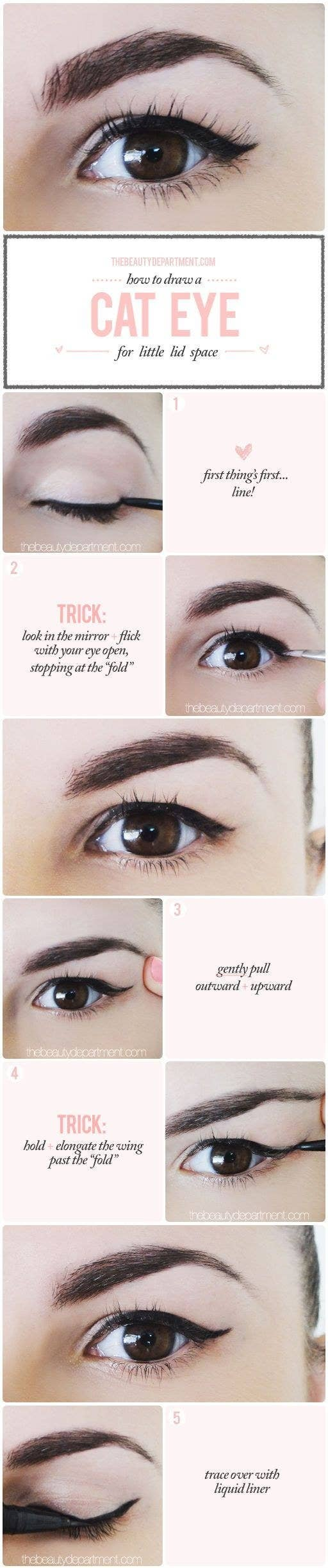 13 makeup tips every person with hooded eyes needs to know a cat eye is probably the biggest struggle for small lidded ladies but heres a quick and easy trick baditri Image collections