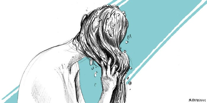 Life feels different when you're clean! And it can give you a burst of energy if you're feeling lethargic. Wash your hair and give yourself a head massage.