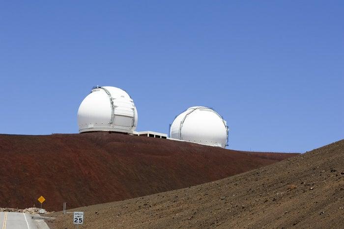 W. M. Keck Observatory on Mauna Kea.