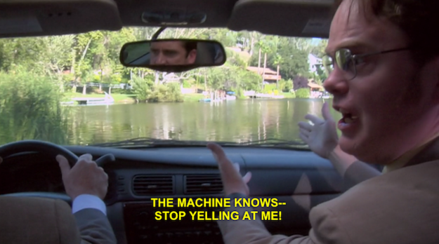 Michael Drives Car Into Lake Episode