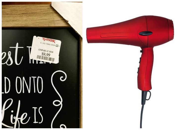 Remove the price tag using heat from a hair dryer.