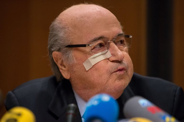 Blatter at the press conference in Zurich, Dec. 21.