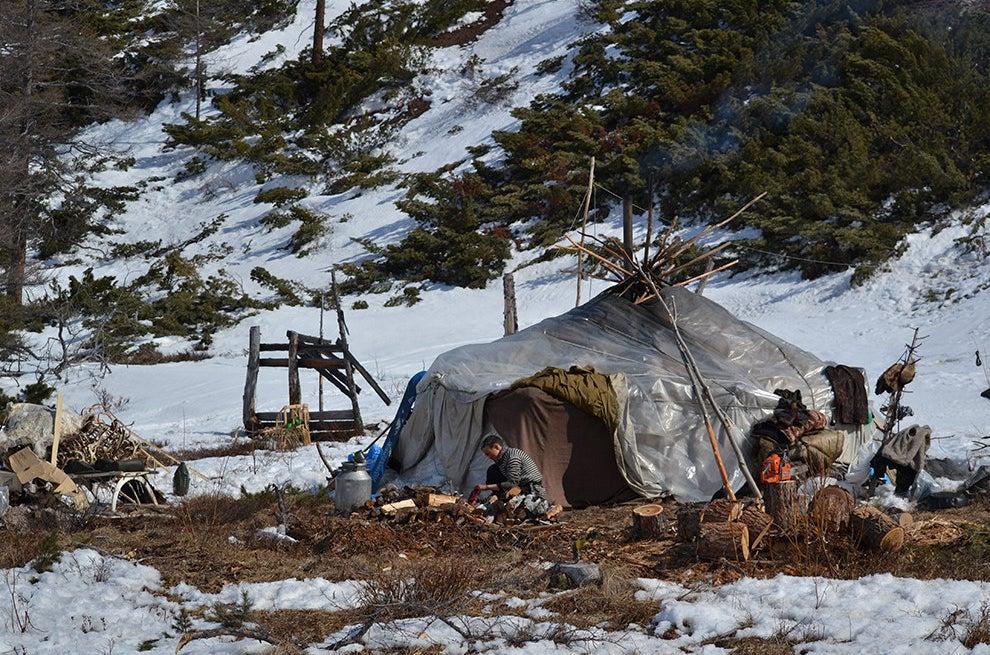 A yurt, April 2015.