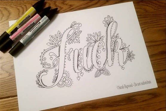 An Adult Coloring Book That Curses How Fucking Beautiful