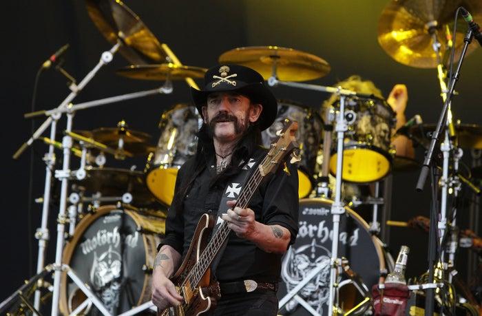 Lemmy Kilmister of Motorhead performs in Ansan, South Korea, in July.