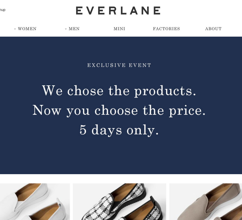 """Why Everlane Is Running A """"Choose Your Price"""" Sale"""