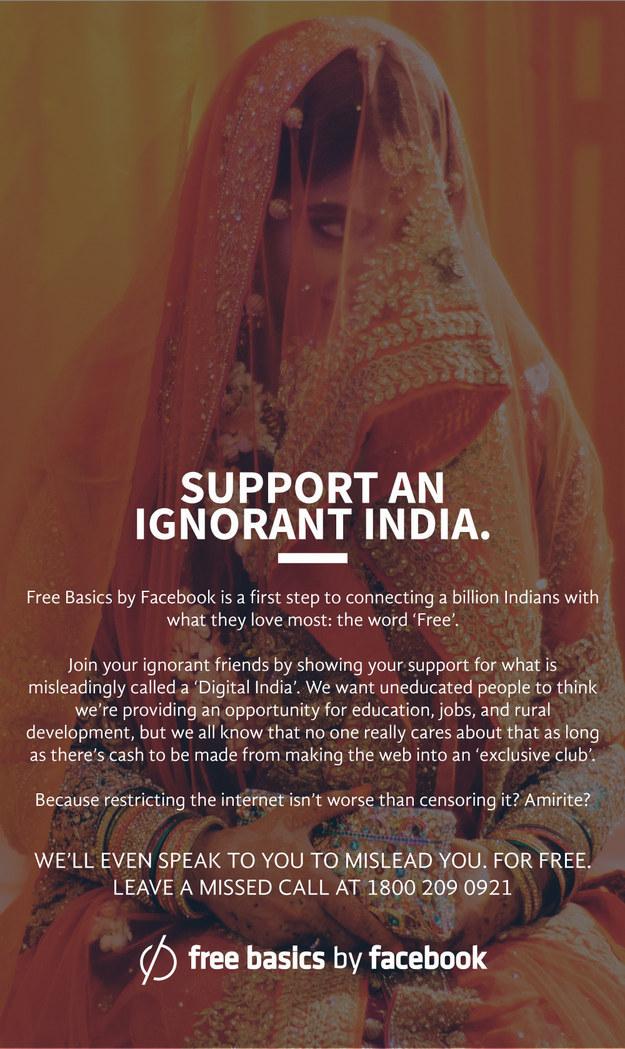 A Redditor Made Some Hilarious Honest Ads For Facebook's Free Basics