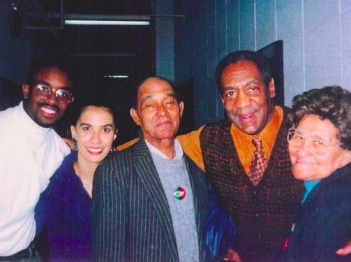 LilI Bernard, second from left, in a group photo with Bill Cosby, second from right.