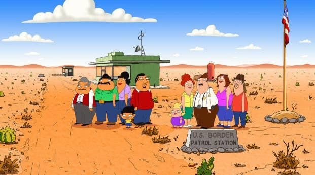 First announced in 2013, Bordertown is about two family patriarchs on the U.S. side of the border with Mexico, one a white, racist, border patrol agent, the other a successful Mexican-American business man. It was created by Mark Hentemann, a former Family Guy showrunner, and executive-produced by Seth MacFarlane, so the humor is familiar if you have ever watched that show. Despite its long gestation period, Bordertown is certainly topical. Hank Azaria voices Bud Buckwald, who would surely vote for Trump; longtime MacFarlane colleague Alex Borstein voices both Janice and Becky Buckwald; and Nicholas Gonzalez voices Ernesto Gonzalez.