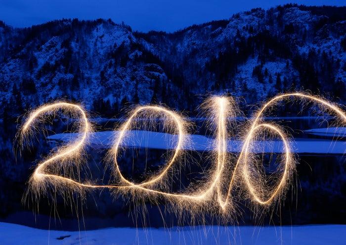 Sparklers near Krasnoyarsk, Russia, on New Year's Eve.