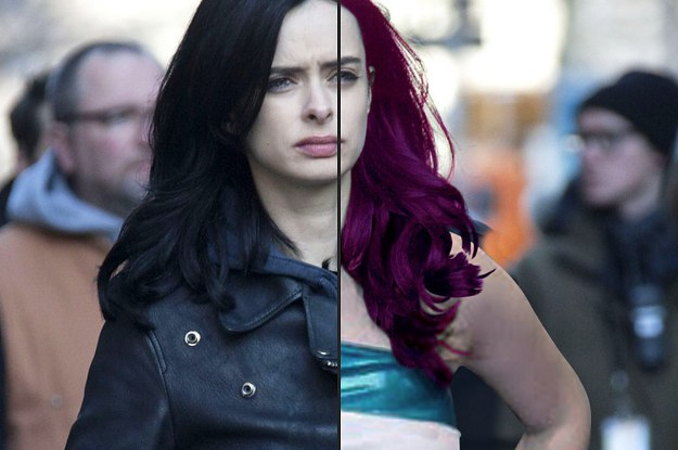 if the characters on jessica jones looked like they did in the comics