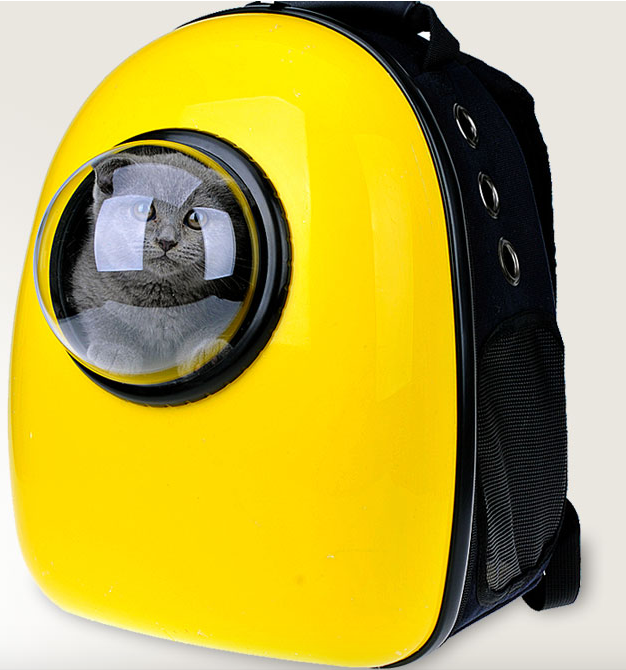 The U-pet backpack carrier ($69) features a lovely little astronaut window.