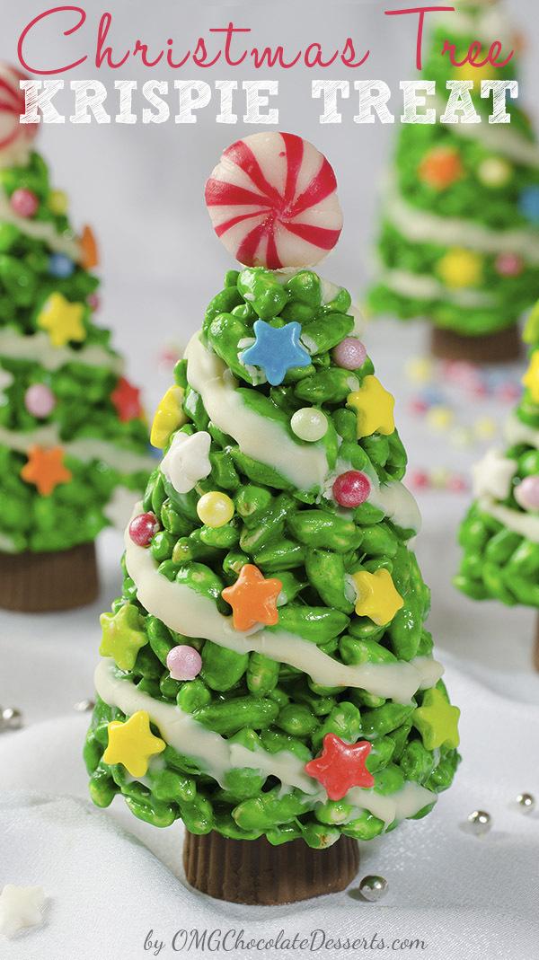 Christmas Tree Rice Krispie Treats. Too Cute.