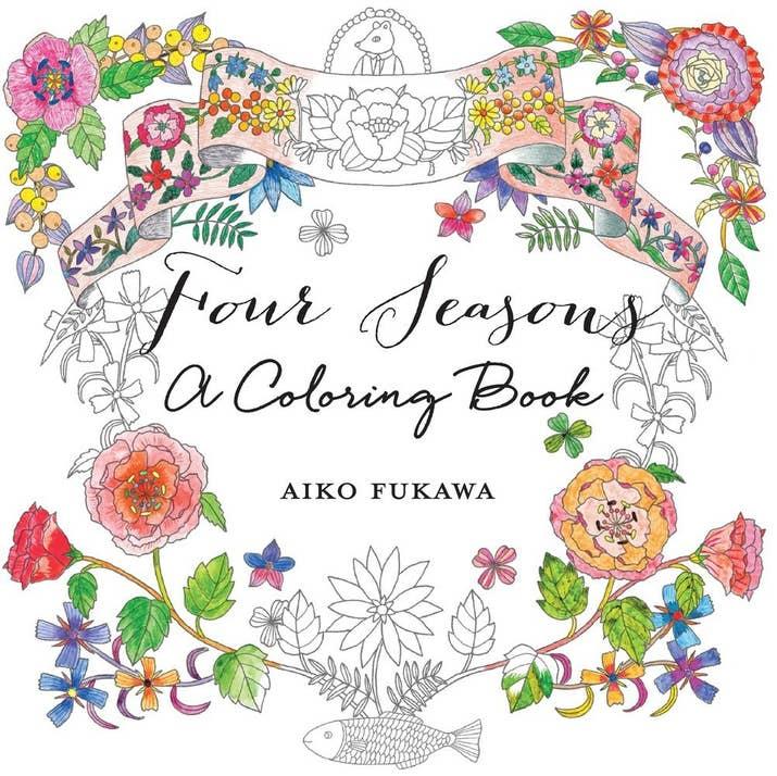 Four Seasons A Coloring Book By Aiko Fukawa