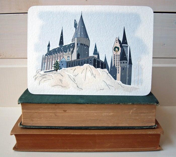 Christmas at Hogwarts Greeting Card, £3.76