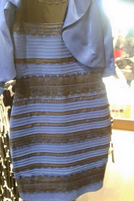 the viral Tumblr dress that looks black and blue to some people and white and gold to others