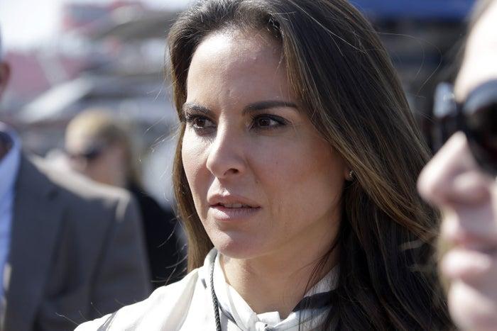 Mexican actress Kate Del Castillo attends a NASCAR Sprint Cup auto race in Fontana, California, in 2013.