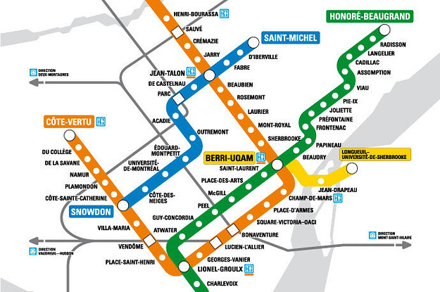Montrela Subway Map.We Bet You Don T Know The Montreal Metro Map By Heart