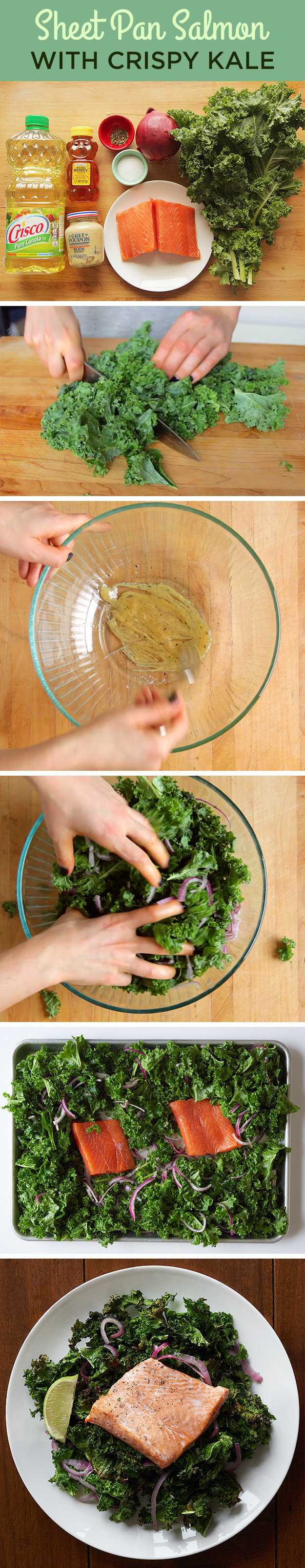 How To Make Sheet Pan Salmon With Crispy Kale