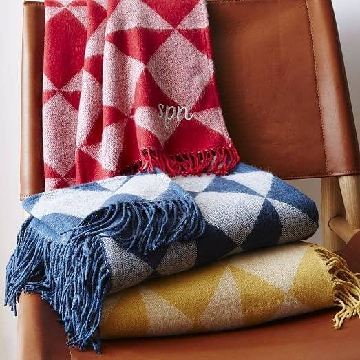 8584241c50 These geometric throws that you can have monogrammed