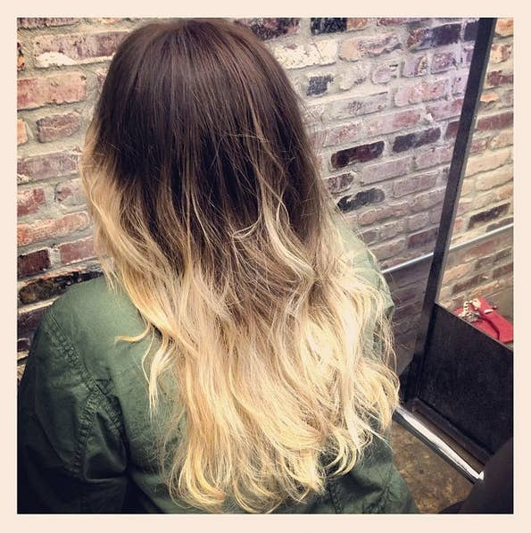 The lower half of the hair is bleached, which can result in a harsh changeover in the middle of the hair.