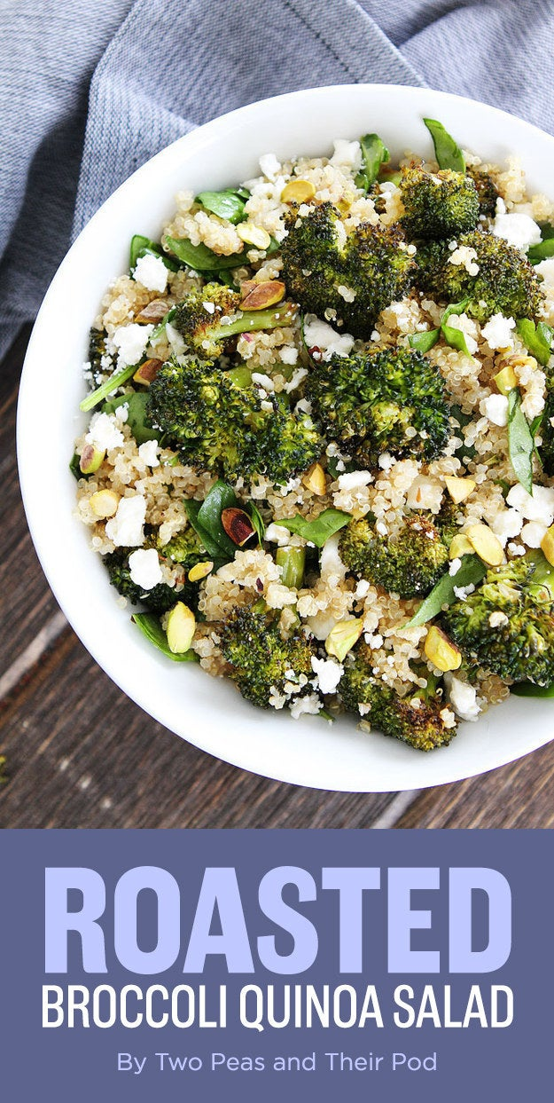 Vegetables are very exciting when they're a little charred and served with a plethora of grains and cheese. Recipe here.