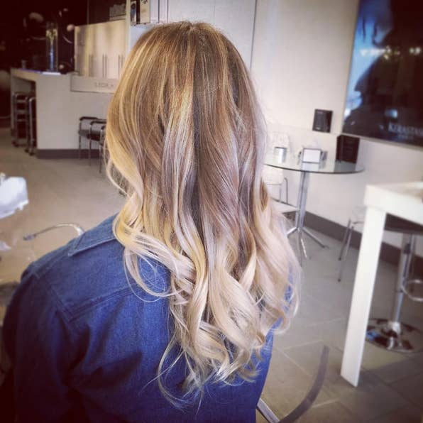 Colorists figured out techniques like hair painting and balayage highlights to get a less striking transition between shades.