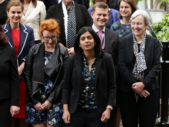Rupa Huq (centre) with Labour colleagues