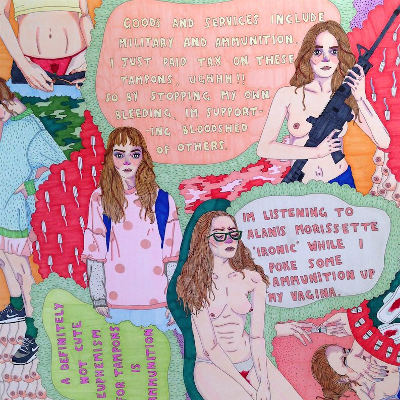 These Artists Are Illustrating All The Weird Things Women Call Their Period