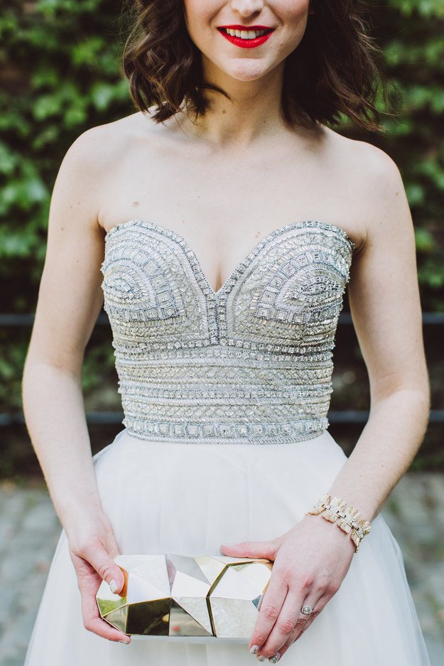 And this bejeweled bodice: