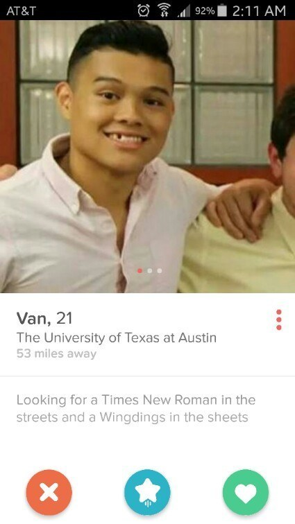 Clever tinder bios
