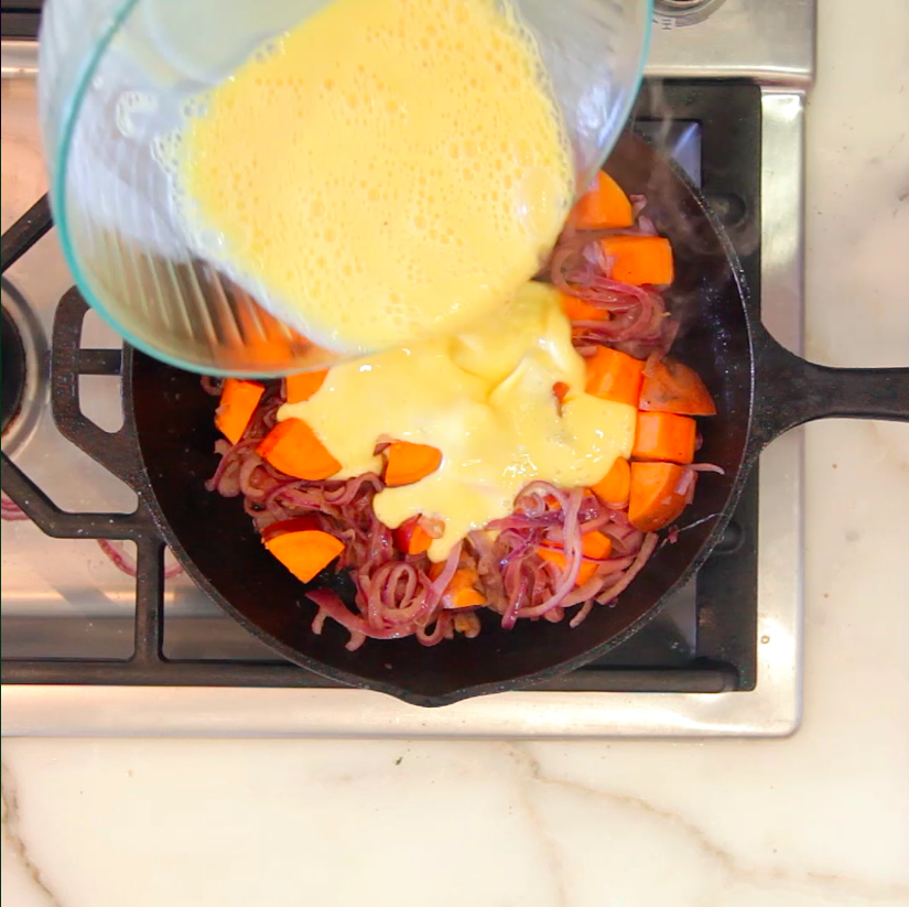 11 Easy And Delicious Ways To Cook Sweet Potatoes: How To Make An Easy Skillet Sweet Potato Frittata