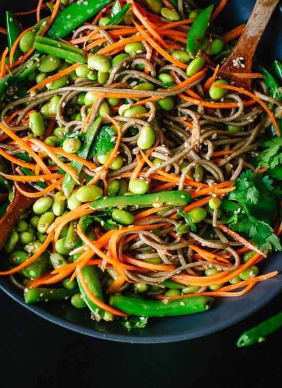Sugar Snap Pea and Carrot Soba Noodles