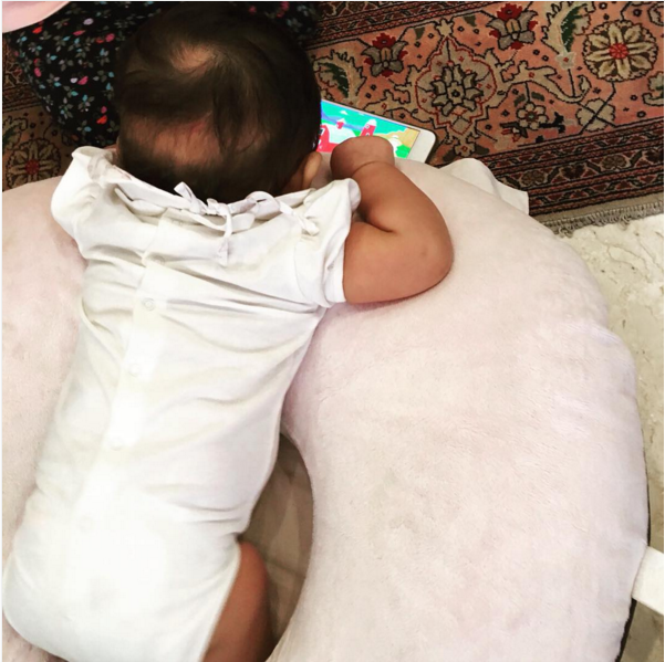 """""""It's a miracle not only for nursing or bottle-feeding but for propping up the baby in a comfortable way. We used ours for nearly everything: feeding, tummy time, learning to sit up, posing for pictures, or just hanging out."""" —Samantha Keller, FacebookGet it here for $29.97."""