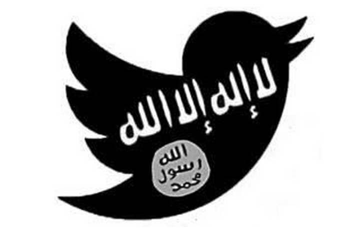 An image used by ISIS supporters combines the Twitter logo with the ISIS flag.