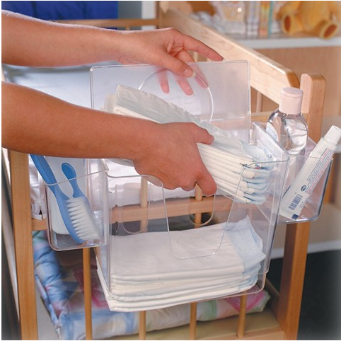 """It clips onto any crib and just about every pack 'n' play, and allows you to stay organized with diapers, wipes, and baby necessities."" —JustJess21Get it here for $12.58."