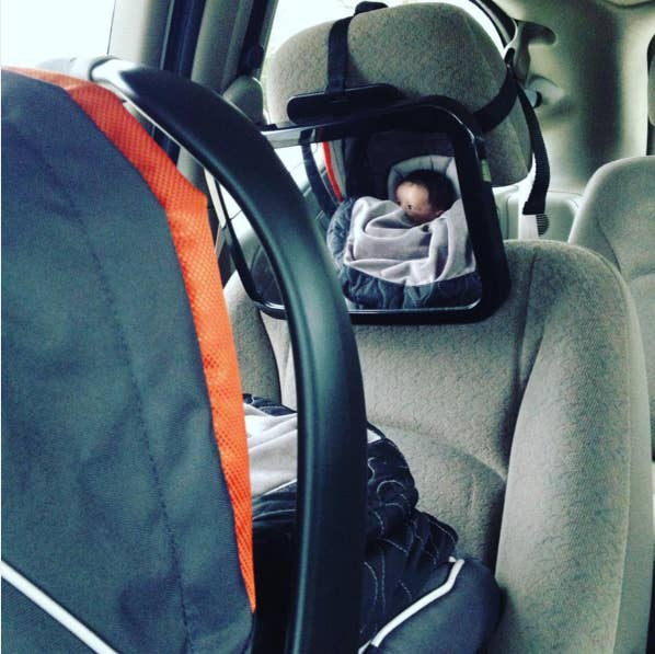 """I went crazy for the first week not being able to see my baby in her rear-facing car seat. It's not everyone's favorite shower gift, but these mirrors are necessary."" —alizabethserenitydGet it here for $21.90."