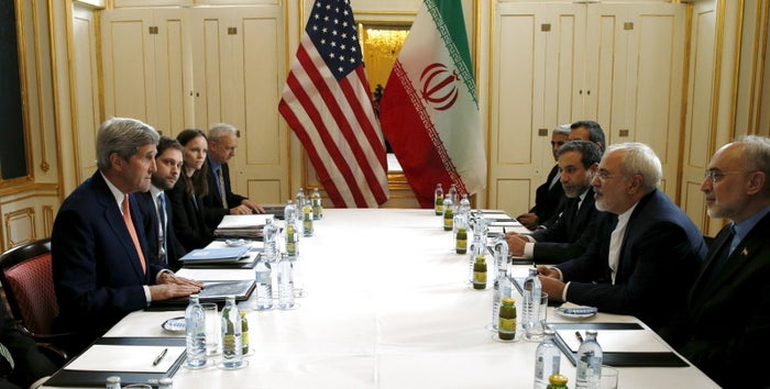 U.S. Secretary of State John Kerry met with Iranian Foreign Minister Mohammad Javad Zarif on Saturday.