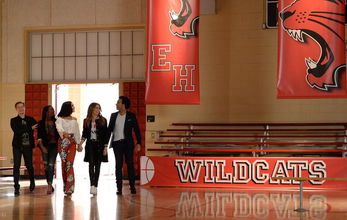 In the film franchise, Hudgens played Gabriella Montez, Tisdale played Sharpay Evans, Bleu played Chad Danforth, Grabeel played Ryan Evans, and Coleman played Taylor McKessie.