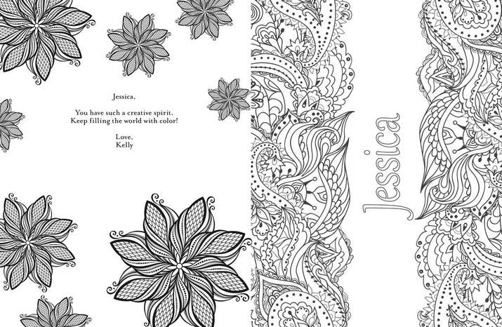 And Now There Are Even Adult Coloring Books That You Can Personalize With Your Own Individual Names On Them