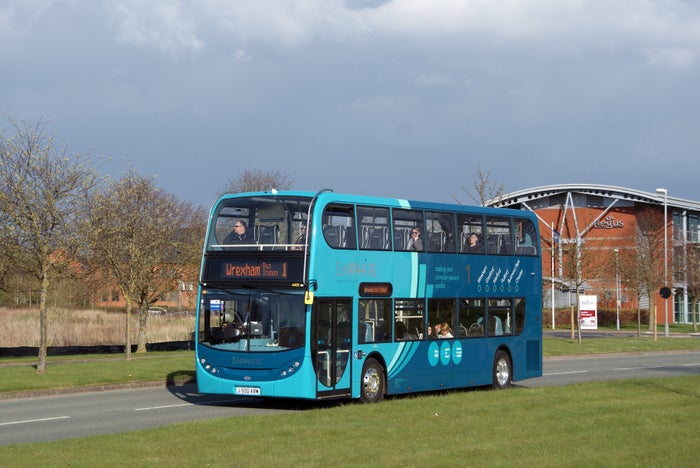 If you've been on this bus recently, you'll know that it now has announcements in both English and Welsh and free Wi-Fi, which is very fancy.