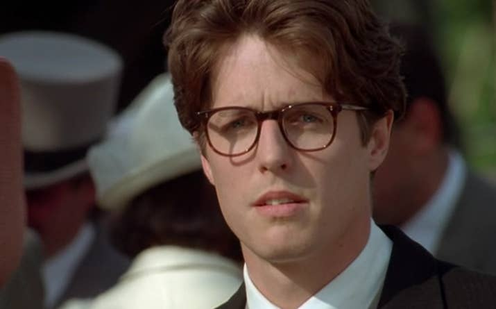 You Will Perhaps Remember The 1994 Film Four Weddings And A Funeral Please Observe 90s Hugh Grant Looking Perfect In Glasses Let Yourself