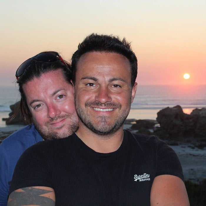 David (left) and Marco Bulmer-Rizzi, the day before the accident