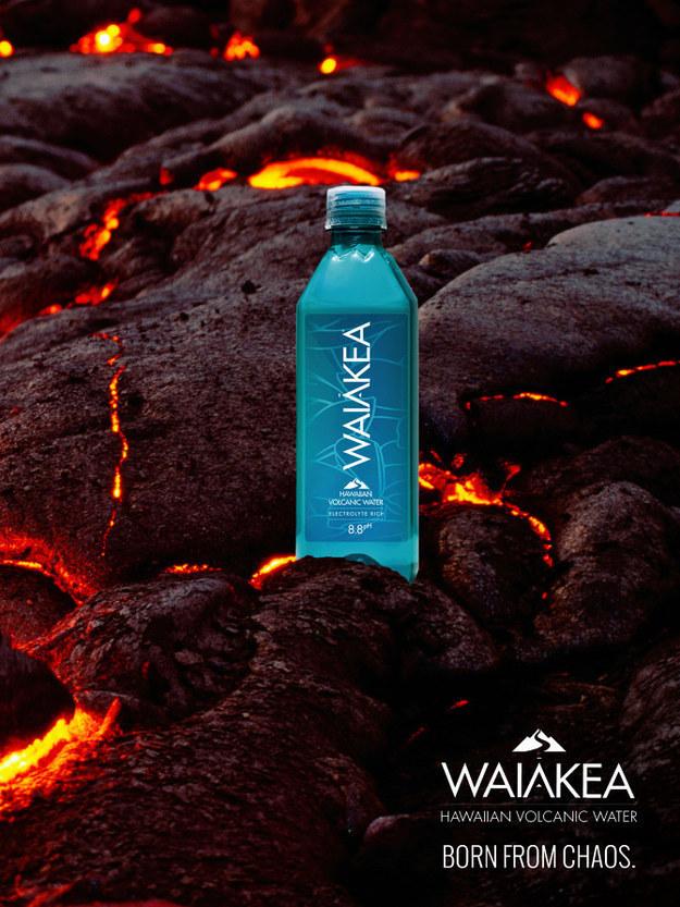 """""""Hawaiian volcanic"""" water."""