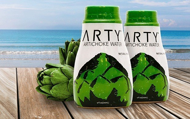 """This artichoke water named """"Arty."""""""