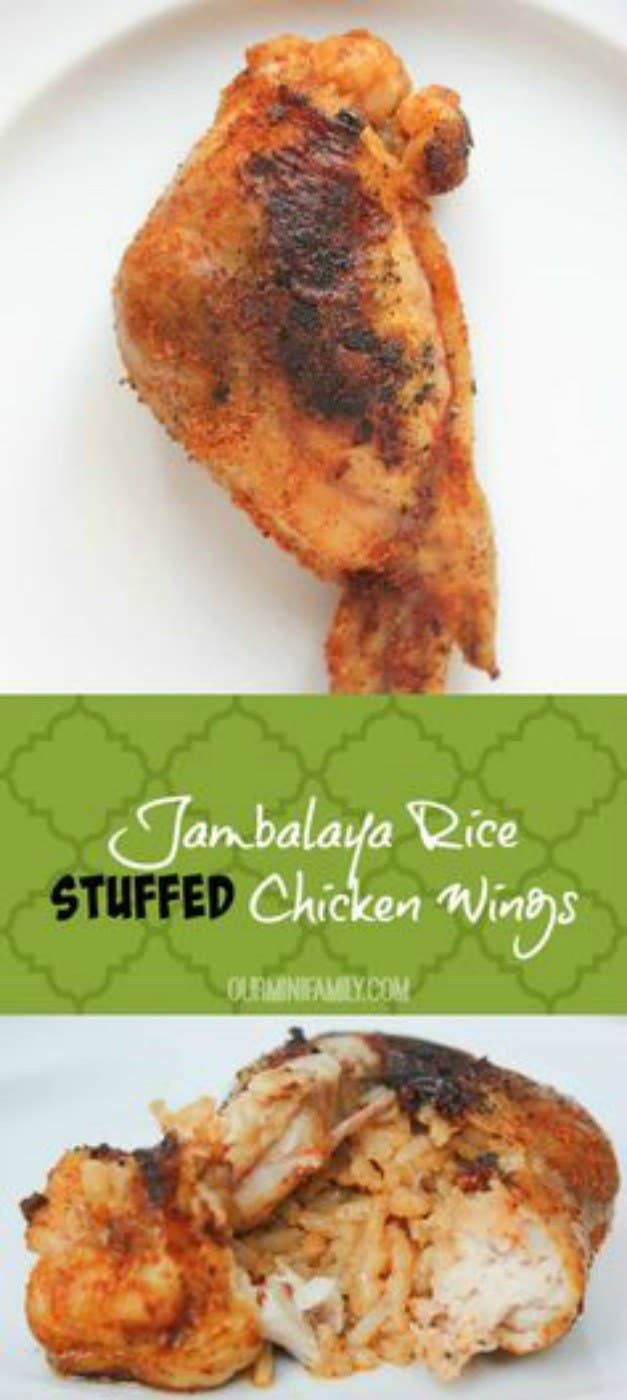 21 outrageous chicken wing recipes jambalaya rice stuffed chicken wings see recipe forumfinder Images