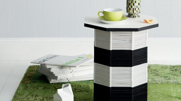 Get a whole bunch and make your very own end table: